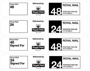 Royal Mail Pre-Printed PPI Labels 24/48 Hour Standard or Signed For 32UP