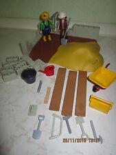 Playmobil Baustelle mit Figuren und Werkzeug  Mauerwerk NR:1157