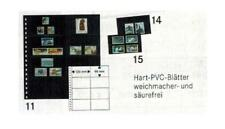 10 Lindner 040 Omnia Pages Noir 2x 8x120x66 Pour Cartes Terminaux 031 032