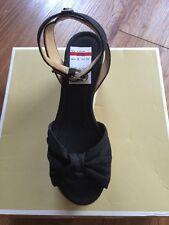 NIB $135 Michael Kors Maxwell Mid Platform Black Espadrille Wedges Sz 7.5M