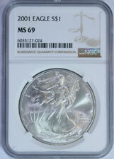 2001 American Silver Eagle / NGC MS69 / Top Rated / Free Shipping & Free Returns