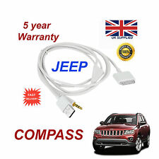 JEEP COMPASS MULTIMEDIA ADAPTER iPhone 3GS 4 4S iPod USB & 3.5mm Aux Cable wht