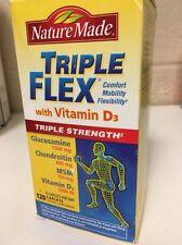 Nature Made Tripleflex Triple Flex Strength Vitamin D3 120 Caplets New