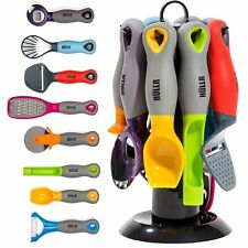 HULLR 9-Piece Kitchen Gadgets Tools Set, Pizza Cutter, Apple Corer, Vegetable...