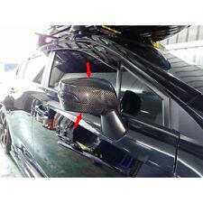 Carbon Combo Side Upper + Lower Mirror Trim Cover For Subaru WRX STI 4th Sedan