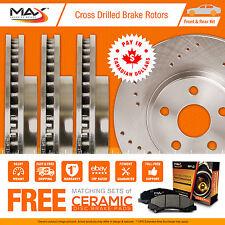 2008 2009 2010 Dodge Grand Caravan Cross Drilled Rotors AND Ceramic Pads F+R