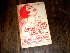 mon dernier amour c'est toi valse chantée par Berard 1922 P. Codini