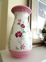 "8 1/4"" Laura Ashley Home FTD Pink Yellow Floral Flowers Botanical Vase-LKN"