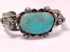 Chimney Butte Navajo Sterling Silver Water Web Turquoise Bracelet 1115DFDD-2