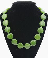 "Fashion 20mm  natural Russia jasper heart-shaped gemstone necklace 18 """