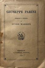 GIUSEPPE PARINI DISEGNATO E STUDIATO DA GUIDO MAZZONI G. BARBÈRA 1929