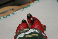 """WINTER """"CARDINALS ON TREE BRANCH"""" By K's COLLECTION ~CHRISTMAS/BIRDS/FIGURINES"""
