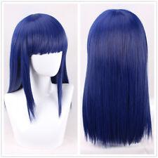 POP TEAM EPIC Pipimi Dark Blue 50cm long straight Cosplay Wig +a wig cap