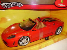 1:18 Ferrari f430 spider HOT WHEELS voiture miniature rouge miniature Model Red cabriolet