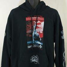 US Open Taekwondo Hanmadang Hoodie Sweatshirt 2012 Black 2nd Place Mens XL EUC