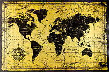 LARGE WORLD MAP OLD STYLE POSTER (61x91cm)  PICTURE PRINT NEW ART