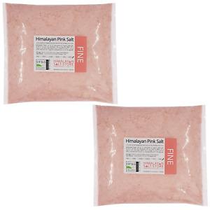 ORGANIC PINK HIMALAYAN SALT   Fine   100-500g 1KG 2KG 5KG 10KG 25KG Food & Bath
