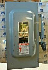 Square D D223n 100 Amp 2 Pole 240 Volt Fusible Indoor Disconnect