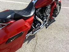 Rear Passenger Floorboard Baggers Chrome-E-O Black Rubber Insert Harley Davidson
