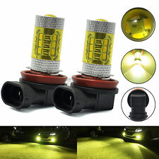 2x H16 High Power 80W 2400LM 90° Angle 3000K Yellow Fog Light LED Bulbs