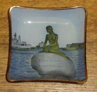 """Vintage Langelinie Copenhagen Glass Trinket Dish / Ashtray - 3 3/4"""""""
