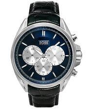 Hugo Boss Mens Chronograph Leather Strap Watch 1512882