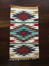 Vintage Mid Century Native American NAVAJO Dazzler Rug Wall Hanging Saddle Blank