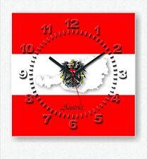 Design Handarbeit Austria Funk Wanduhr Österreich Wohnzimmer Küche Büro Uhr neu