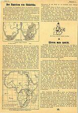 Der Napoleon Südafrikas Cecil Rhodes geplante Eisenbahnlinie Kapstadt Cairo 1899