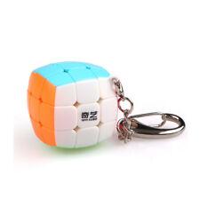 Mini Lock Keychain Bread Cube 3x3x3 Magic Speed Cube 30mm Stickerless Twist Toys