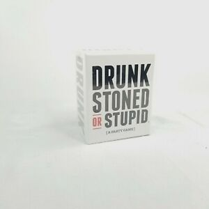 Drunk Stoned Or Stupid [A Party Game] - 250 Cards NWOT Ages 17+ 4 Players Total