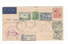 Australia 1938 Sydney - PORT MORESBY Registered Flight Cover,cds GLANDORE SA
