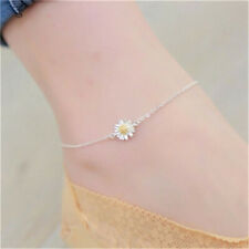 Women's fashion Silver Anklet Chrysanthemum Feet Chain Jewelry Gift