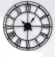 Classic 88CM Vintage Cast Iron Skeleton Roman Wall Clock Indoor Outdoor & Garden