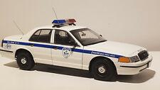 AUTOart 1:18 Ford Crown Victoria Police Car Montreal Info Crime 393-1133 SUPER