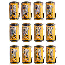 12 pièces SUBC Sub C 1.2V 1800mAh NiCd PILE RECHARGEABLE AVEC TAB hyperps