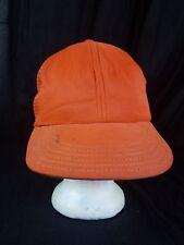 VTG Funkap Hat Orange 60s 70s Snapback Trucker Mesh Cap