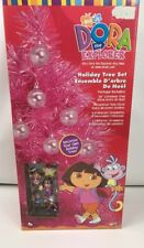 Kurt Adler Dora Explorer Christmas Holiday Tree Kit Ornaments Bundle New Pink