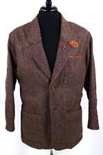 ORVIS Sz M ~ 42R Brown Herringbone Wool Blend Donegal Tweed Sport Coat Jacket