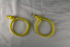 Soft Shackle Pair for whoopie slings, ridgelines, hammocks 7/64 Amsteel - yellow