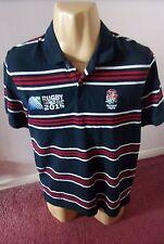 England Rugby 2015 Copa del Mundo Fred Perry Estilo Camisa L Adultos Mercadería Oficial