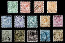 GB - 1912-13 : King George V -  Scott# 159-72 Set of 14