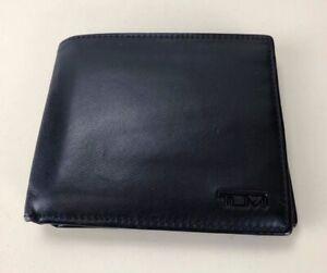 Tumi Global Center ID Flip Passcase Black Wallet Passport Travel Case Holder!!