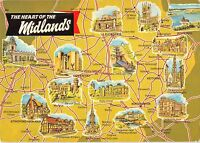 B100348 the heart of the midlands map cartes geographiques   uk