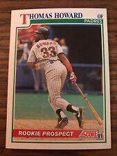 1991 Score Rookie Prospect Thomas Howard San Diego Padres 335