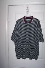 DARBY CLASSICS TRAILS MEN'S MULTI - COLOR STRIPED POLO SHIRT SIZE X-LARGE