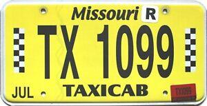 2017 Missouri TAXICAB license plate #1099, REAL & RARE