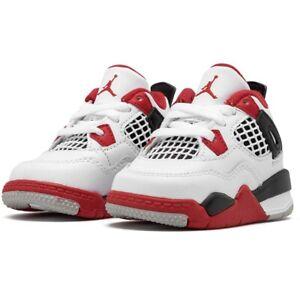 Nike Air Jordan 4 Retro Fire Red 2020 (TD) Toddler Size 7C BQ7670-160 No Lid