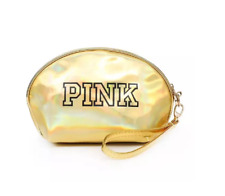 Victoria Secret VS PINK Makeup Cosmetic Shimmer Diamond Zip Up Bag Case NEW