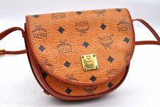 Authentic MCM Cognac Visetos Leather Vintage Shoulder Bag Brown  A2367